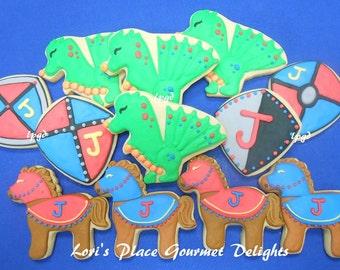 Dragon Slayer Cookies - Knight Cookies - 12 Cookies