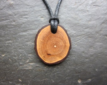 Natural Wood Pendant - Rowan - for Magical Protection.