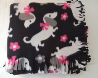 Small Fleece Blanket -- Dachshund Dog