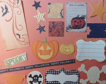 SALE - Halloween Paper Pieces - Scrapbook and Arts and Crafts Supplies