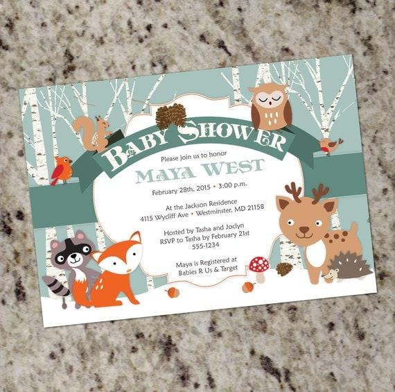 Winter Woodland Shower Winter Forest Animals Themed Baby Shower
