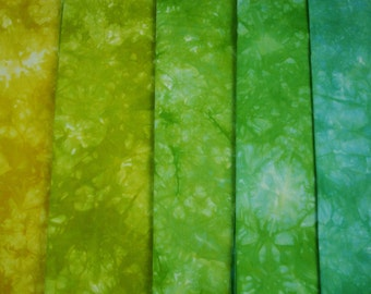 Hand Dyed Fat Quarter Bundle, Hand Dyed Quilting Material