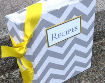 Recipe Book -8.5x11 size-choose your own ribbon color