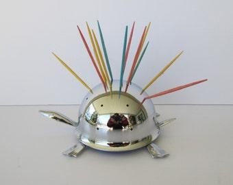 Mid Century Modern Turtle Toothpick Holder
