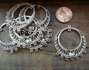 Sterling silver chandelier earring components
