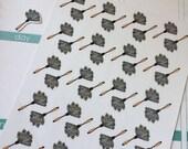 Huge Sale Planner Stickers 40 Dusters Dusting Stickers  Life Planner Stickers