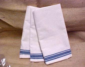 3 NIP Retro Stripe Cotton Towels Aunt Marthas Stitch Em Up for Craft Embroider, Applique #A308 FREE SHIPPING