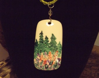 Hand Painted China Pendant Necklace