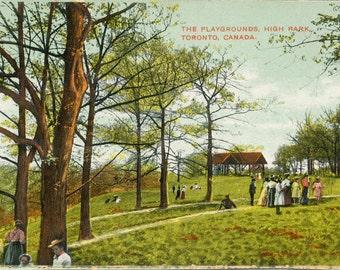 Vintage Postcard of High Park - The Playgrounds - 1900s Old Toronto Postcard - Memorabilia