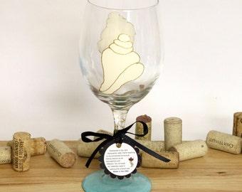Conch shell, wedding wine glass, beach wedding, beach table decor, ocean wedding, painted wine glass, large wine glasses, beach house decor