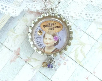 Friendship Necklace Best Friend Necklace BFF Necklace Gift For Best Friend Bottle Cap Necklace