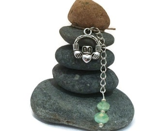 Claddagh Rock Cairn, Small Gift, Irish, Crowned Heart, Friendship, Ireland, Zen Garden, Celtic, Desk Gift