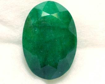208 carat  .....  faceted emerald gemstone  ...  43 x 30 x 25 MM