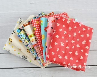 Kawaii Japanese Fabric Fat Quarter Bundle Set
