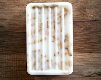 Raw Sugar and Mint  Handmade Soap Goat Milk Big Bar 6.5 oz Free Shipping