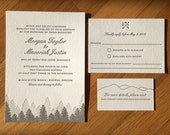 Letterpress wedding invites and save the dates