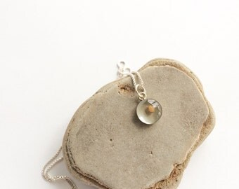 faith as small as a mustard seed - sterling silver mustard seed necklace - mustard seed faith pendant - sterling silver mustard seed charm