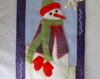 Wool Snowman Wallhanging