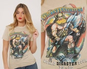 SALE Vintage 80s MOLLY HATCHET Shirt World Disaster 79-80 Tour Shirt Concert Shirt  Graphic Rock T shirt