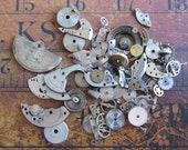 Vintage WATCH PARTS gears - Steampunk parts - r82 Listing is for all the watch parts seen in photos