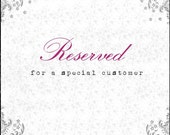 Reserved listing for Marilyn
