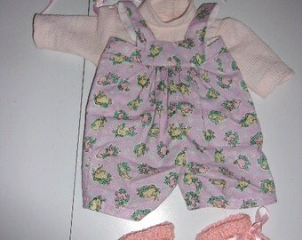 Sewn Doll Outfit with Crochet Booties