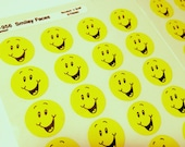 Vintage Trend Sticker Lot Full Sheets Yellow Smiley Face Scratch N Sniff T-956 Lemon