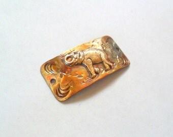 Artisan Elephant Copper and Brass Bracelet Link Finding