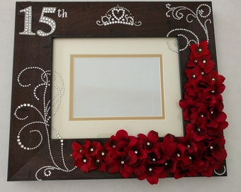 Quinceanera Frame Unique Decorated make only by order