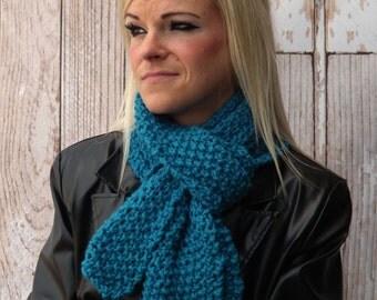 Jade Knit Scarf - Winter Scarf - Long Warm scarf - Soft Scarf - Winter Accessory - Jade Scarf - Fall Scarf - Unisex Scarf - Men's Scarf