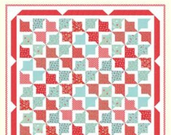 SALE - In Stock - Quilt Kit - Lazy Days - Vintage Picnic fabric by Bonnie and Camille