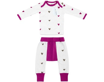 Organic Hearts Infant 2 Piece Outfit