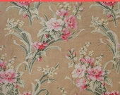 On SALE - Sweetest Antique Fabric French Barkcloth