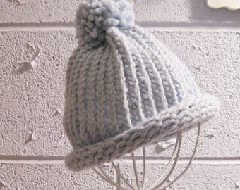 Child's Light Blue Hat  1 to 5 Years Size Ready to Ship