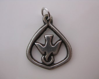 Vintage Sterling Silver Dove Charm