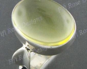 Design 20ct Lemon Quartz Sterling Silver Sz 8.5 Ring