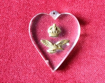 Lucite RAF, WWII,  sweetheart pendant