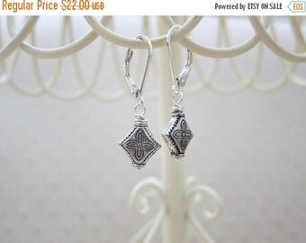 ON SALE Tibetan Silver Leverback Earrings