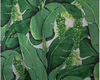 Brazilliance Fabric by Dorothy Draper /Banana Leaves / Palm Leaves / Pillows