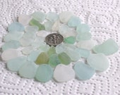 42 Natural Sea Glass Charms Top Drilled 1.5mm holes Supplies (1917)
