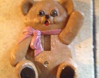 Teddy Bear Ceramic Switch Plate