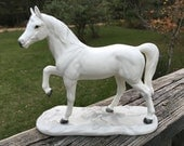 Vintage White Horse Figurine--Majestic Stallion--Eqine Lover--Horse Collector--Made in Japan