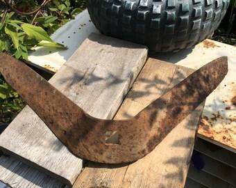 Vintage Tractor Plow Spade Blade...Salvaged...Old...Rusty Patina...Farm Relic...Barn Find...Estate Sale find...Iron Garden Decor