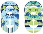 Nursery Closet Dividers for Baby Boy Newborn thru Toddler Whales
