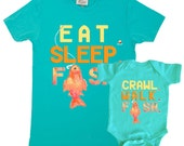 Father Son Shirts Fishing Bodysuits Dad tshirt combo Baby Boy and Dad T-shirts  Great for new dads  by Mumsy Goose