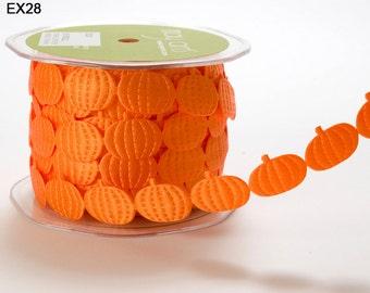 Orange Pumpkin Ribbon - 3/4 Inch
