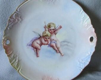 Antique Cherub Angel Cake, Pastry Plate