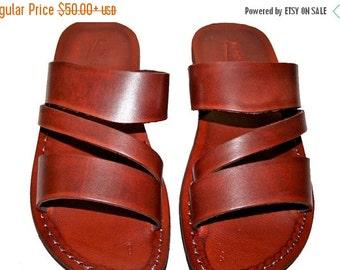 15% OFF Brown Flip Leather Sandals for Men & Women
