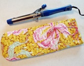 Curling Iron Cover Insulated and Quilted Travel Case