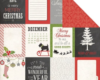 12 Tis the Season Christmas Journaling Cards by Echo Park . Labels, Scrapbook Embellishments or Card Starters